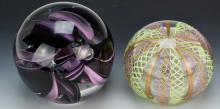 Murano Art Glass Paperweight Grouping