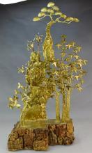 Mid Century Modern Brass Sculpture