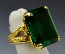 14k Yellow Gold Cocktail Ring