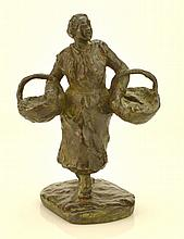 Gabrielle Jeanne Brichard Bronze Figure Of Woman