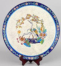 French Faience Charger by Longwy