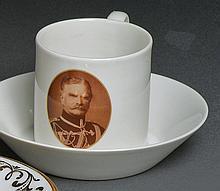 Portraittasse mit Untertasse?KPM Berlin, 1914-18?Schauseitig ovales Bildnis