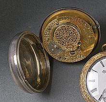 James-Thornton-Spindeltaschenuhr?London, A. 19. Jh.?Glattes, rundes Gehäuse