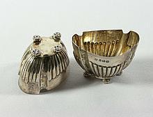 Paar Gewürzschalen?Sheffield, Atkin Brothers - 1904?Vierpassig ovale Form m