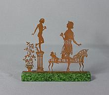Vier Boudoir-Darstellungen?Wohl Berlin, um 1900?Leicht bekleidete Damen, je