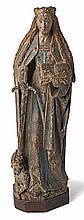 Heilige Katharina von Alexandrien?Um 1500?Auf Sockel stehende Heilige im fa