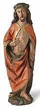 Auferstehungschristus?Franken, um 1500?Auf Natursockel stehender Christus i