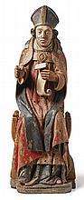 Heiliger Urban?Franken, um 1500?Der auf einem Faltstuhl sitzende Heilige im