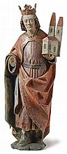Kaiser Heinrich?Franken, 1. H. 16. Jh.?Auf Natursockel stehender Herrscher
