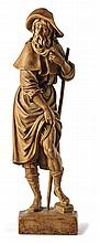 Heiliger Rochus?17./19. Jh.?Der auf einem Natursockel stehende Heilige im P