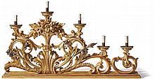 Paar großer, barocker Altarleuchter?Italien, 18./19. Jh.?Auf länglicher Sta