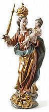 Madonna mit Kind?Bayern/Österreich, M. 18. Jh.?In anmutiger Haltung auf sti