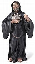 Heiliger Benedikt von Nursia?Neapel, E. 18. Jh.?Im schwarzen Mönchshabit de