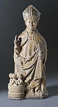 Heiliger Nikolaus von Myra?Nordfrankreich, um 1500?Auf Natursockel stehende