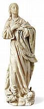 Maria Immaculata?Italien, 19. Jh.?Auf Wolkensockel mit geflügelten Puttenkö
