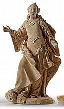 Katharina von Alexandrien ?Italien, A. 18. Jh.?Aufrecht auf Natursockel in