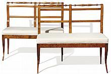 Paar elegante Biedermeier-Bänke?Südwestdeutschland, um 1830?Auf hohen, eleg
