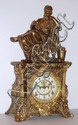 Ansonia Clock Co., New York, NY cast metal figural clock,