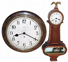 Clocks- 2 (Two), 8 days, time only, wall clocks: New Haven