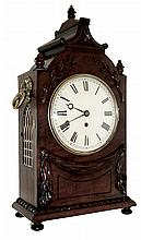 English, 8 days, fusee spring brass movement bracket clock with drop off strike, c1890