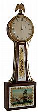 Unsigned, Boston, Mass. area, 8 days, weight brass movement Patent Timepiece or