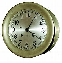Chelsea Clock Co., Chelsea, Mass., 8 days, time and ship's bell strike, 6
