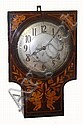 French unsigned inlaid mahogany 8-day time &