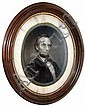 Abraham Lincoln framed lithograph portrait,