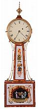 Fraser Forgie, Fryeburg, Maine, 8 day, brass movement weight driven Patent or banjo timepiece.