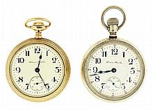 Pocket watches- 2 (Two): Both 18 size Hampden, the first a