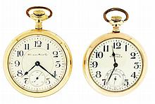 Pocket watches- 2 (Two): Both Hampden, the first an 18 size