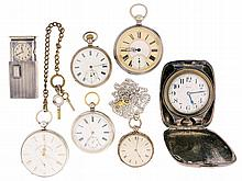 Pocket watches; 7 (Seven): All Swiss, including an 8 day