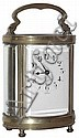 French carriage clock 8 day, time only, spring