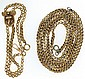 Watch chain with slide, 12k rose gold, made into 2