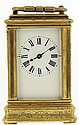 French miniature carriage clock, 8 day, time only,