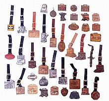 Fobs- 41 (forty one). Heavy equipment advertising fobs including Caterpillar, Terex, Cyclone, Marion, and others, 20th century