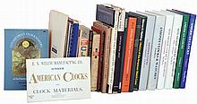 Books- 18 (Eighteen) plus many booklets: 16 hardcovers: Ly- Ansonia, Seth Thomas (2), American Clocks 1 & 2, Kroeber; Niebling; Chapuis & Jacquet; Rees; Jagger; Willard (1962); Lloyd; Bell (barometers); Mussey; Drepperd. Softcovers include Willard