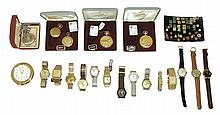 Wrist and Pocket watches- 20 (Twenty). 8 mechanical wrist watches including Elgin, Nivada, Carlisle, Bulova, and others, 6 quartz including Seiko, Benrus, and others, 5 Arnex quartz pocket watches, 1 Geneva mechanical pocket watch a Seiko quartz