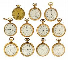 Pocket watches- 11 (Eleven), all Waltham, 14 size
