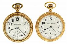 Pocket watches- 2 (Two), 18 size Hampden