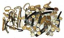 Wrist watches- approximately 65 (Sixty five), consisting of both mechanical and quartz, mostly Swiss, Glycine, Eterna, Gruen, Croton, Wittnauer, Hamilton, Waltham, and others, some Timex, and a few early 20th century