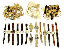 Wrist watches, approximately 80 (Eighty), consisting of mechanical and quartz, mostly Swiss, including Longines, a lady's Vulcain Cricket, Gruen, Benrus, Jules Jurgensen, Unitas, Borel, Waltham, Hamilton, Elgin, Timex, and others