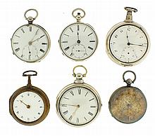 Pocket watches- 6 (Six), all fusees,