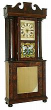 J.J. Beals, Boston, 30 hour, time and strike, weight wood movement c1835, in a mid 20th century hollow column case? This is a difficult clock to assess as it is not typical and was most likely custom made; pinning down a construction date is not