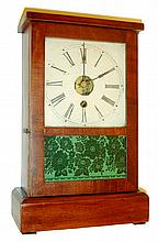 S. B. Terry & Co., Terryville, Conn.30 Hour timepiece, Mahogany veneered Cottage case, c.1852.