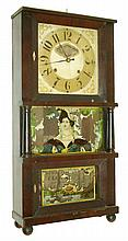 C. & L.C. Ives, Bristol, Conn., 8 days, time and strike, weight brass movement triple decker shelf clock, c1835