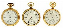 Pocket watches- 3 (Three), 18 size Waltham