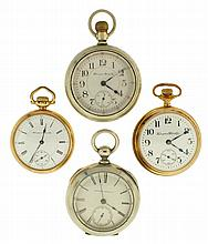 Pocket watches- 4 (Four), 18 size Hampden