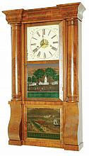 E.N. Welch, Forestville, Conn., 8 days, time and strike, column & cornice shelf clock, c1860. Label states: