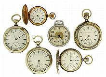 Pocket watches- 6 (Six), 18 size Waltham